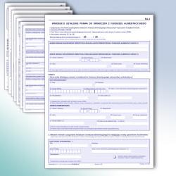 FA-1, Wniosek o ustalenie prawa do świadczeń z funduszu alimentacyjnego