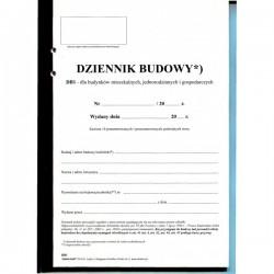 Dziennik budowy DB1 środki papier samokopiujący