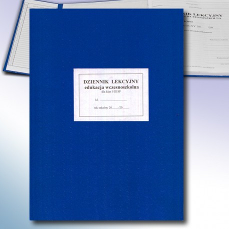 Dziennik lekcyjny dla klas I-III - edukacja wczesnoszkolna