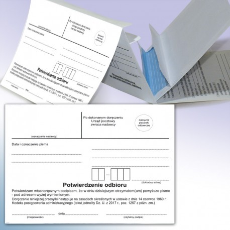 Koperta + zwrotka karton - Kpa