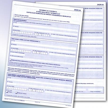 ZKDR-04 Informacja o osobach, które będą mogły wyświetlać kartę elektroniczną na swoich urządzeniach mobilnych.