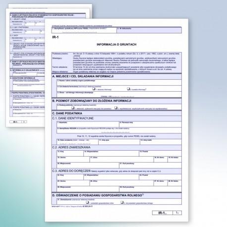 IR-1 Informacja o gruntach